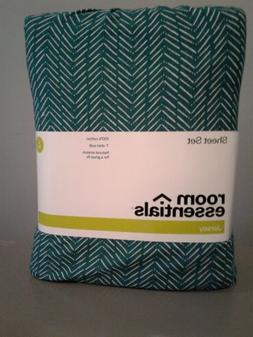 Room Essentials 100% Cotto Jersey Sheet Set Twin XL Chevron