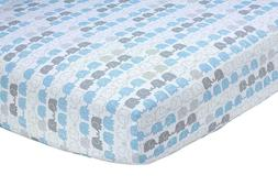Cuddly Cubs 2 Jersey Cotton Fitted Crib Sheets Gray and Mint