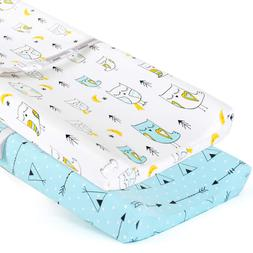 2 Pack Changing Pad Covers Baby Boys Girls Sheet Set Stretch