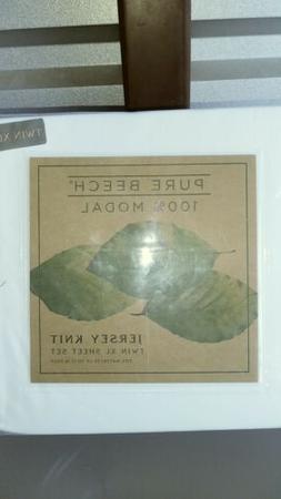Pure Beech 3 Piece 100% Modal Jersey Knit Twin XL Sheet Set