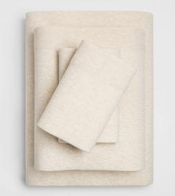 Threshold 4 Piece Full Jersey Sheet Set Flat, Fitted & 2 Std