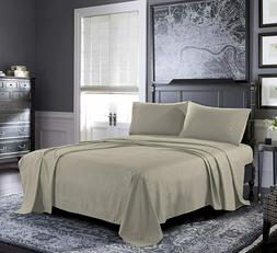 Pure Bedding 4pc. Queen Jersey Sheet Set