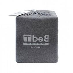 Bambury BedT 100% Cotton Jersey Charcoal Marle Sheet Set  Ge