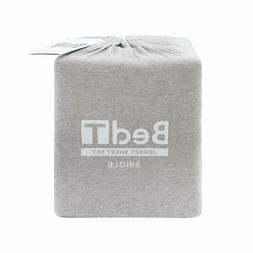 Bambury BedT 100% Cotton Jersey Grey Marle Sheet Set  Genuin