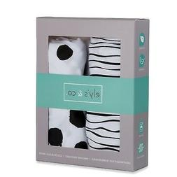 Bassinet Sheet Set 2 Pack 100% Jersey Cotton Black and White