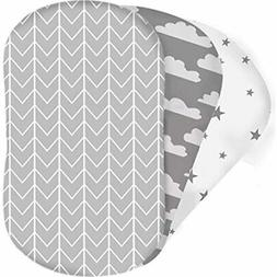 Bear&39s Little Fish 3-Pack Of Bassinet Sheets 100% Hypoalle
