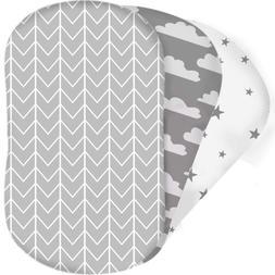 Bear'S Little Fish 3-Pack Of Bassinet Sheets |100% Hypoaller