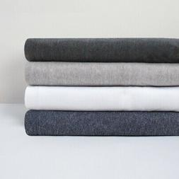 Bambury BedT 100% Cotton Jersey Charcoal Marle Grey Marle De