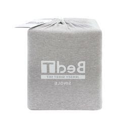 Bambury BedT 100% Cotton Jersey Grey Marle Sheet Set