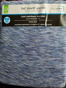 Brand New! In Bag! Mainstays Queen Size Jersey Sheet Set! Ts