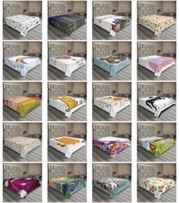 Ambesonne Cartoon Flat Sheet Top Sheet Decorative Bedding 6