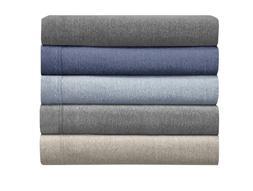 cotton blend heather jersey sheet set
