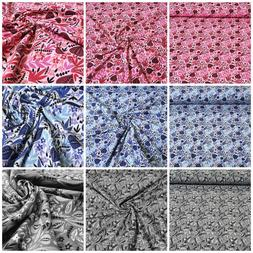 Cotton Jersey Fabric Printed Sheets Sold by the Meter Decor