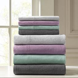 Heathered Twin XL Bed Sheets, Casual 100% Cotton Bed Sheet,