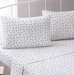 Brielle Fashion 100% Cotton Jersey Sheet Set, King, Anchor