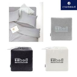 Cotton Polyester Jersey Knit Sheet Set by Bed T - Grey Snow