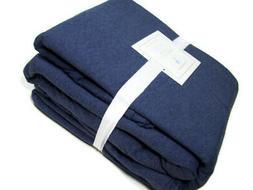 Pottery Barn Kids Dark Blue Cotton Jersey Cotton Queen Sheet