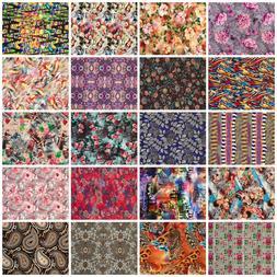 Fabric Viscose Jersey Digital Print Clothing Decor Viscose S