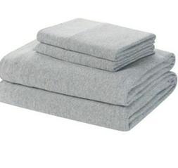 Full size Knit Jersey Bedding Sheet Set Grey Heather. New so