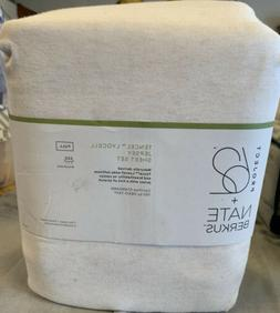 full tencel jersey blend sheet set beige