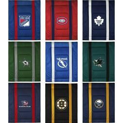 NHL Hockey Comforter - Sports League Logo Bedding Teen Bedro