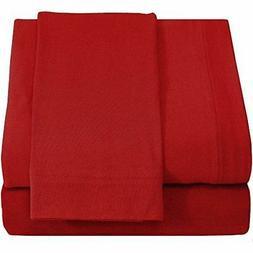 Hospital Twin Extra Long 100% Cotton Knit Jersey Sheet Set -