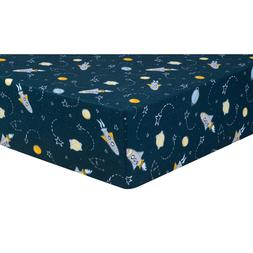 Trend Lab Jersey Fitted Crib Sheet, Rockets