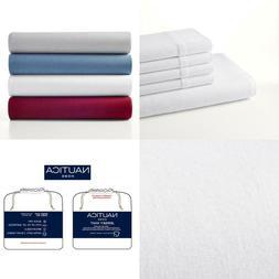 Jersey Knit 4-Piece Solid White Cotton Blend King Sheet Set