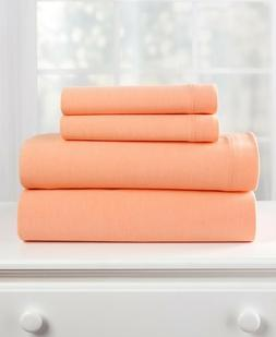 Jersey Knit Bed Sheet  & Pillowcase Set - Coral King