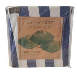 jersey knit modal stripe twin xl sheet
