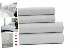 Jersey Knit Sheet Set - Soft & Luxurious Cotton Bedding - 15