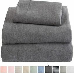 Great Bay Home Jersey Knit Sheets. All Season, Soft, Cozy Tw