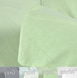 Brielle Jersey Knit T-Shirt Sheet Set, 100% Cotton, Full, Sa