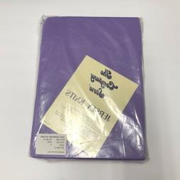 The Company Store Jersey Knits Twin Size Flat Sheet Purple N