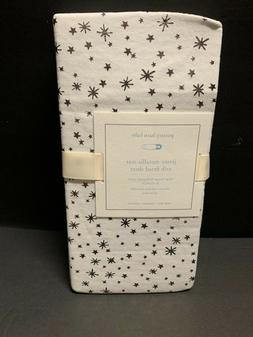 Pottery Barn Kids Jersey Metallic STAR Crib Toddler Sheet Ba