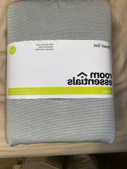Jersey Sheet Set Prints  Gray Stripe - Room Essentials™