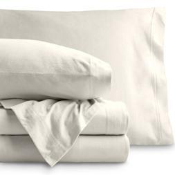 Bare Home Jersey Sheet Set - Ultra Soft 100% Cotton T-Shirt