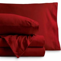 Bare Home Jersey Sheet Set, Ultra Soft, 100% Cotton - Breath