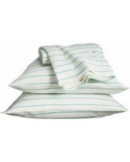 Room Essentials Jersey Sheet Set  WHITE WITH POWDER BLUE STR