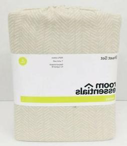 Room Essentials Jersey Sheet Set XL Twin 100% Cotton Sandalw