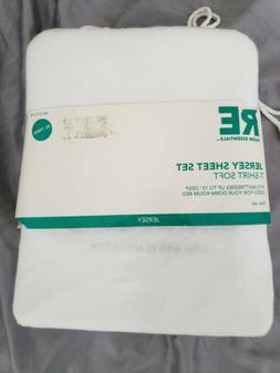 Room Essentials JERSEY SHEET SET XL Twin 100% NEW