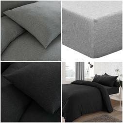 Jersey Yarn Poly Cotton Fitted Sheet Bed Sheets Single Doubl
