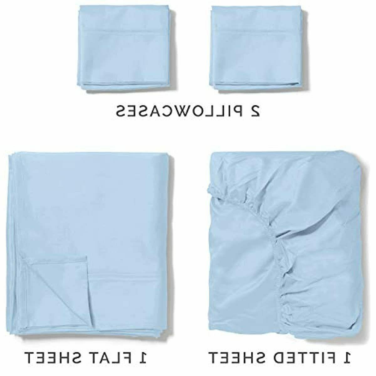 100% Cotton Blue Silky 400 Thread Long S