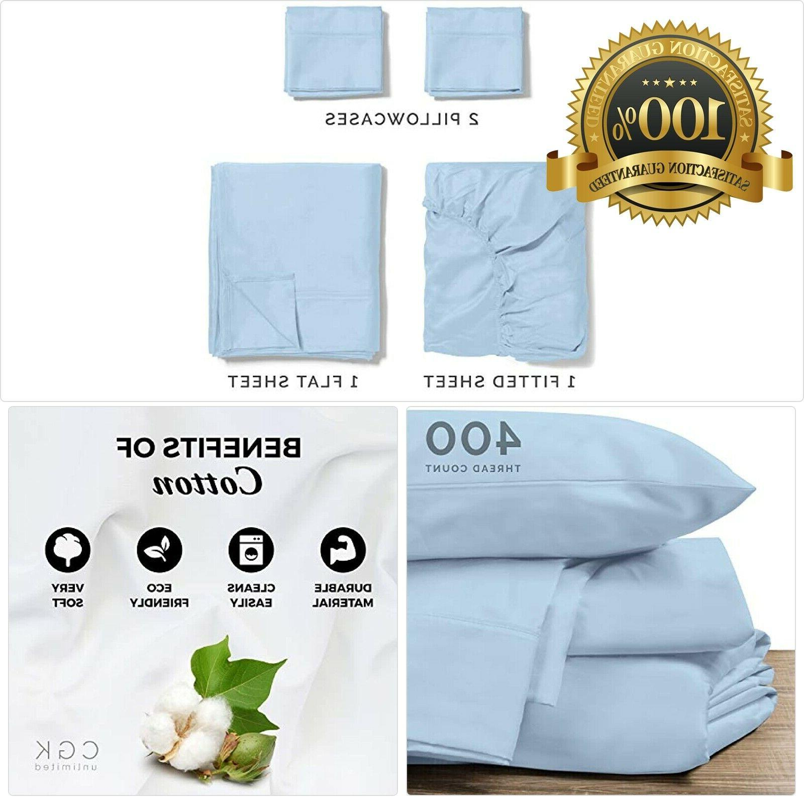 100 percent cotton twin size sheets blue
