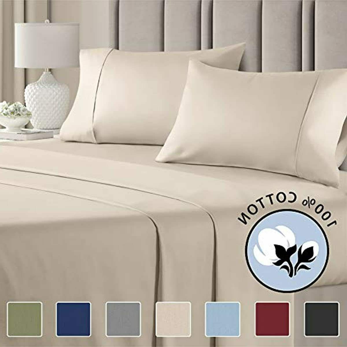 100 percent queen size sheets cotton beige