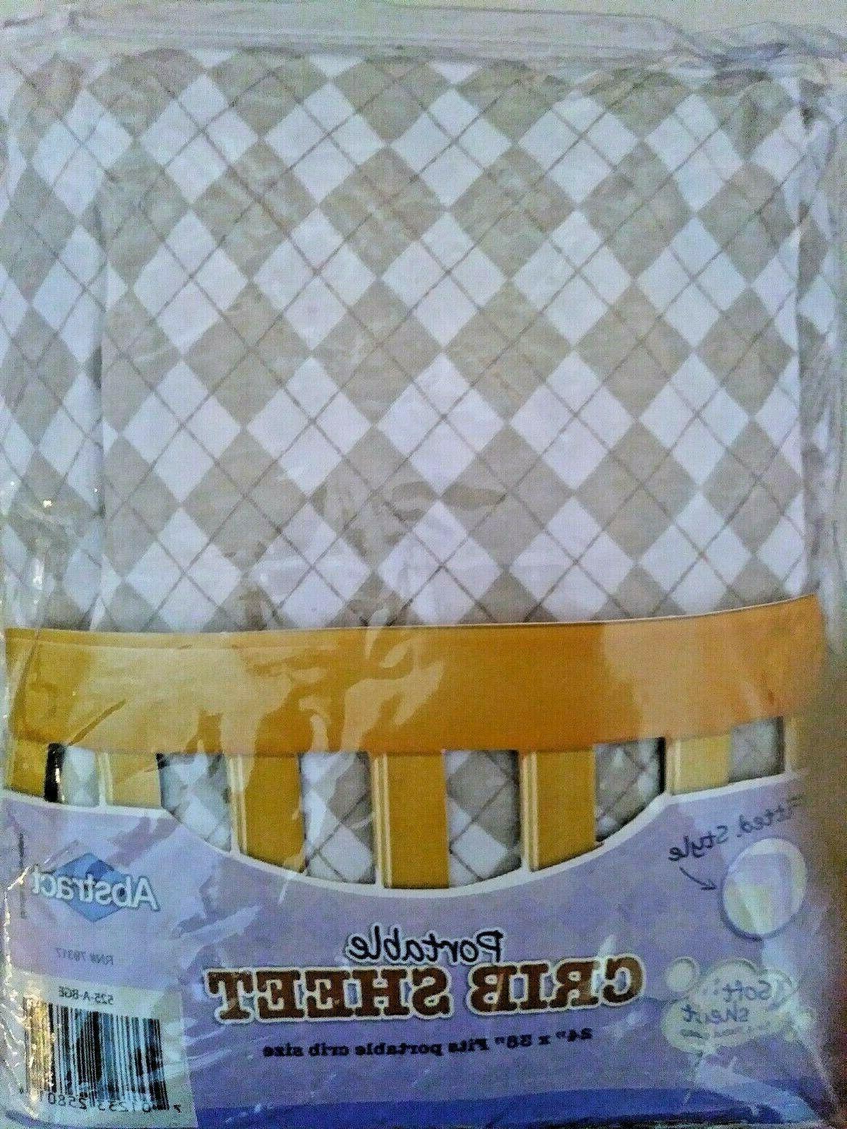 argyle print beige cotton knit jersey 27