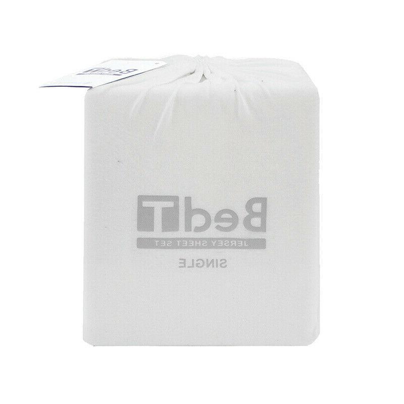 bedt 100 percent cotton jersey white sheet