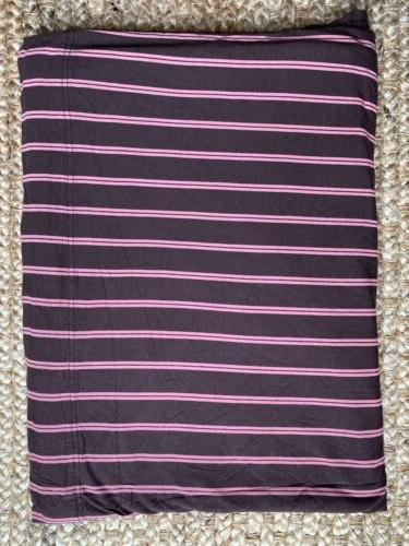 Brown, pink stripes Soft Tees Modal & Cotton Sheet Set
