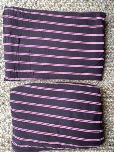 brown pink stripes soft tees jersey modal