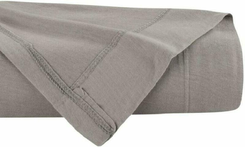 delanna jersey knit flat sheet soft breathable